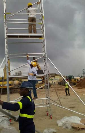 Aluminium scaffold tower Ladder